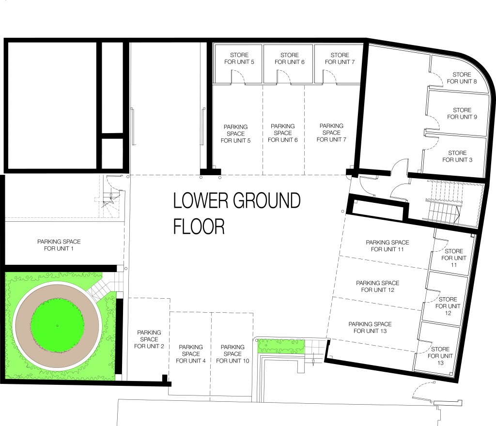 Smarts Quarter Lower Ground Floor Parking Plan