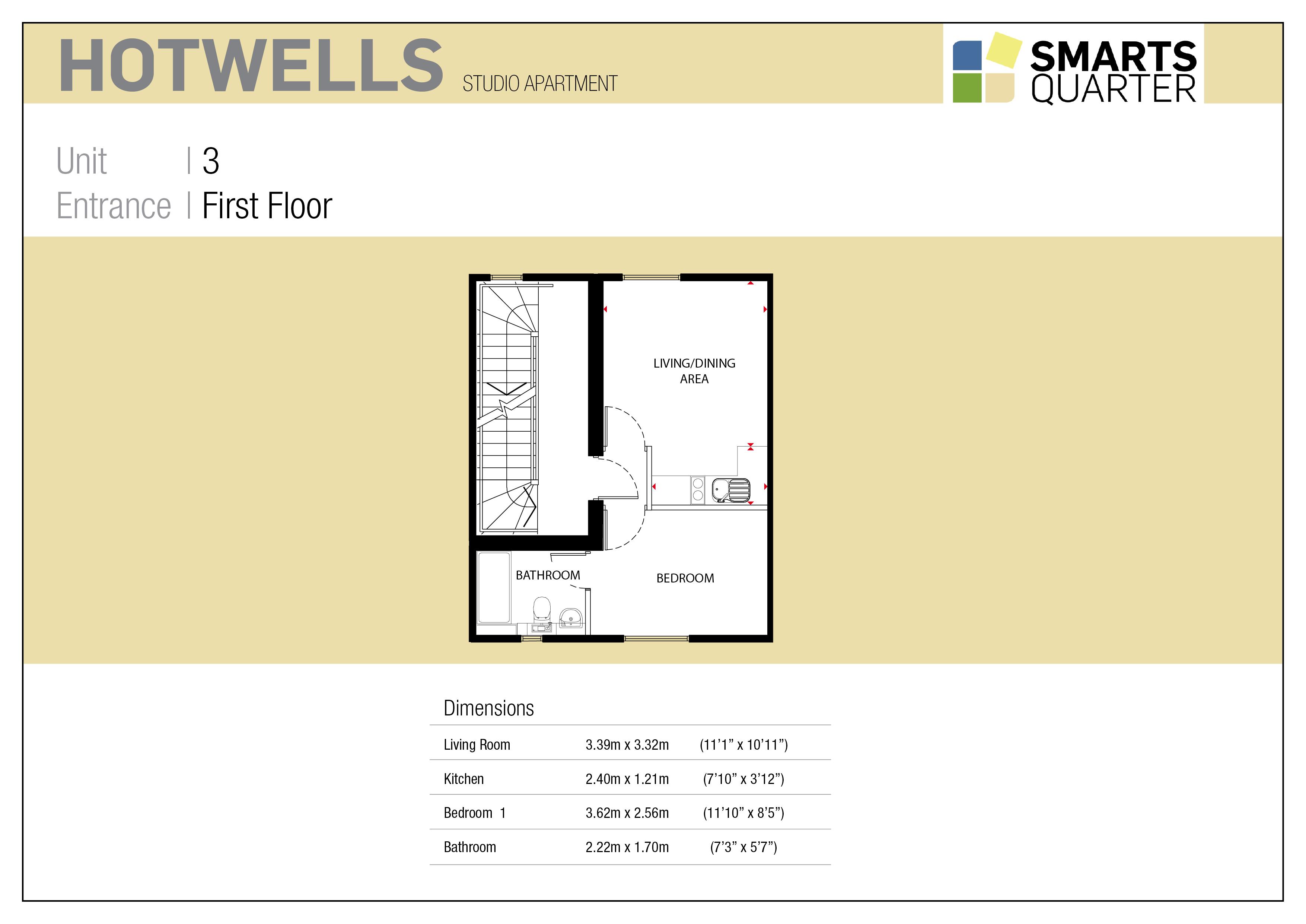 Hotwells Apartment Floor Plan at New Smarts Quarter Development
