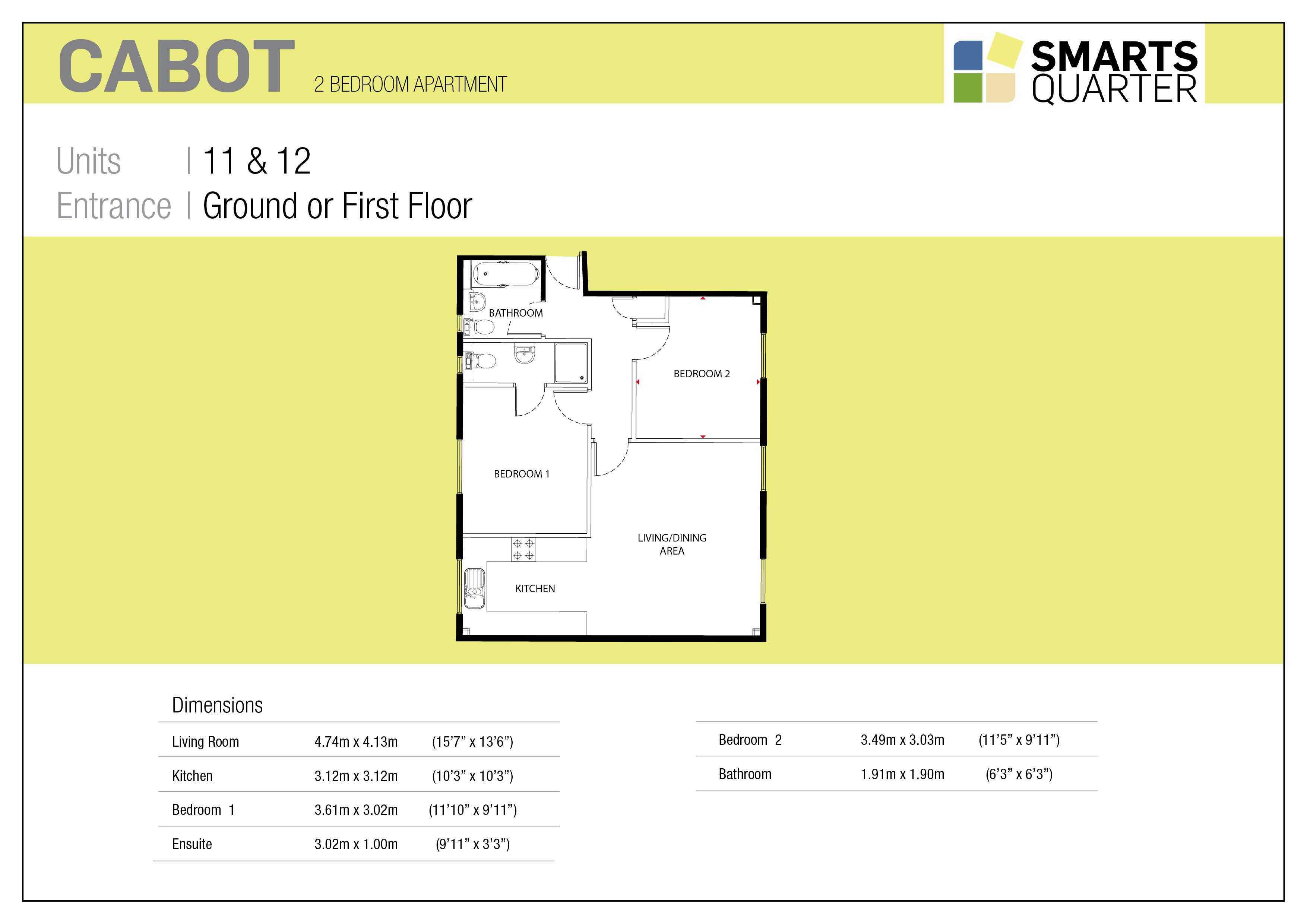 New Smarts Quarter Development Bristol Cabot Floorplan